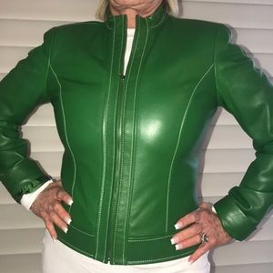 David Meister Bomber leather Jacket Bloomingdales